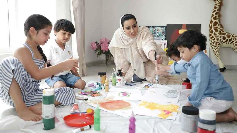 حمدان: الأطفال لم يفهموا معنى العمل الإنساني الذي رسّخه الشيخ زايد فينا إلا من خلال ممارسة العمل الخيري.أرشيفية