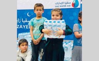الصورة: 13 مليون مستفيد من مبادرات «سقيا الإمارات» حول العالم
