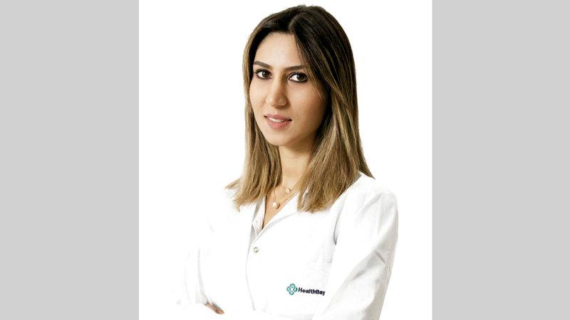 أخصائية التغذية سارة عبدالغني.  من المصدر