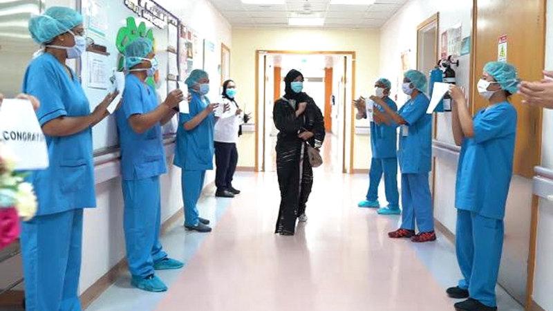 فرق الدعم الطبي تابعت وضع زهرا الصحي إلى أن بلغت الشفاء التام.  من المصدر