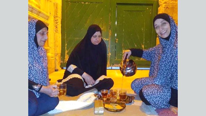 باب المطهرة الرئيس للحرم يجاور باب منزل أبونجمة. الإمارات اليوم