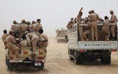 الصورة: الجيش اليمني يسقط طائرة مسيرة حوثية في مأرب