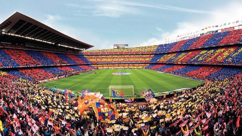 برشلونة يتمتع بشعبية جارفة عالمياً. أرشيفية