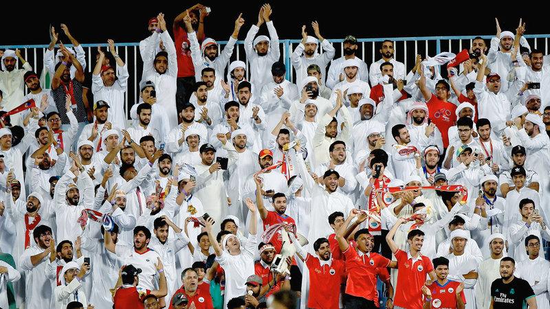 أندية دوري الخليج العربي تحظى بمساندة جماهيرية كبيرة. À تصوير: إريك أرازاس