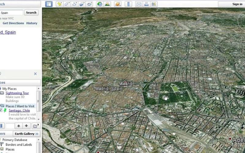 الصورة: تعديل جولات Google Earth Pro السابقة