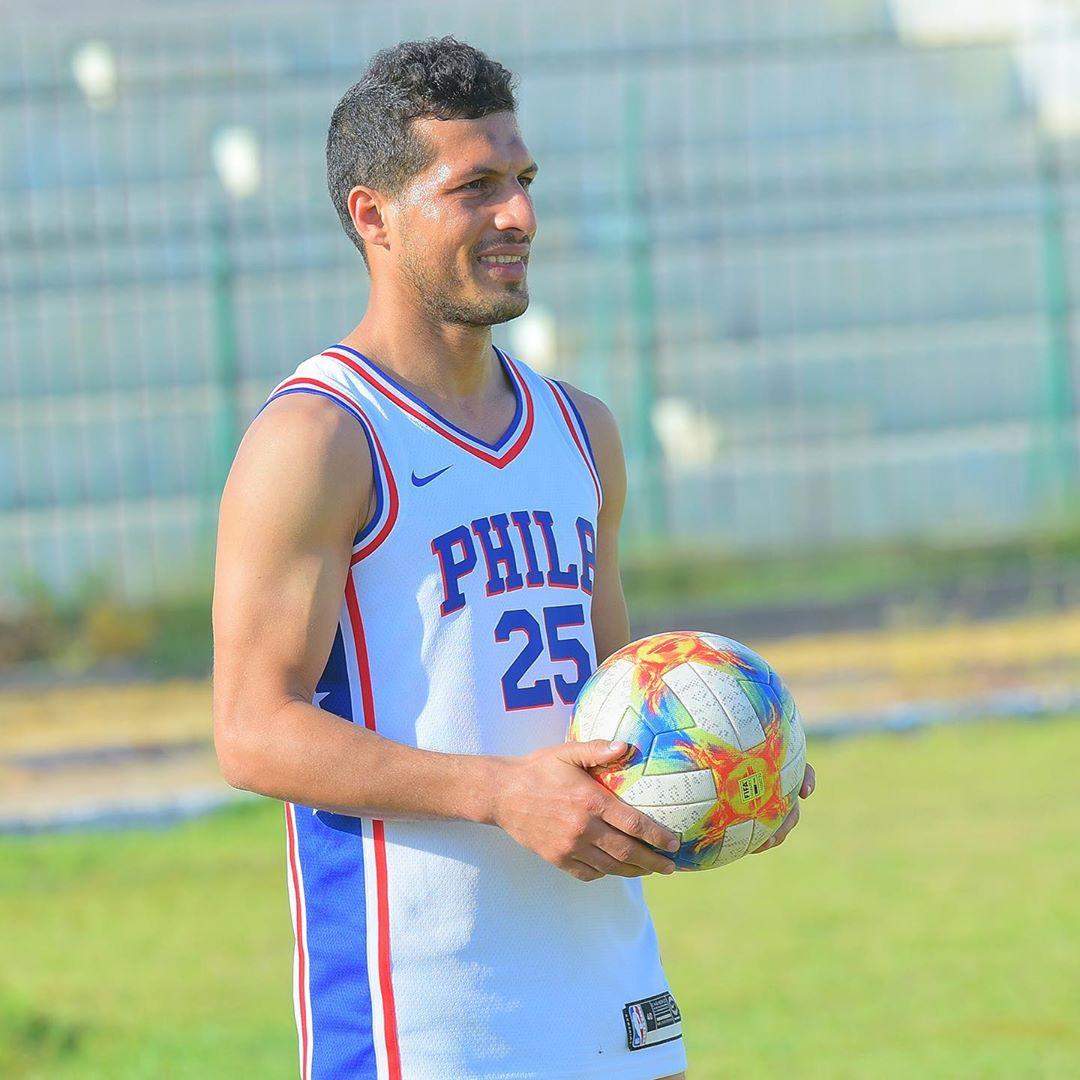 طارق حامد أثناء التدريب