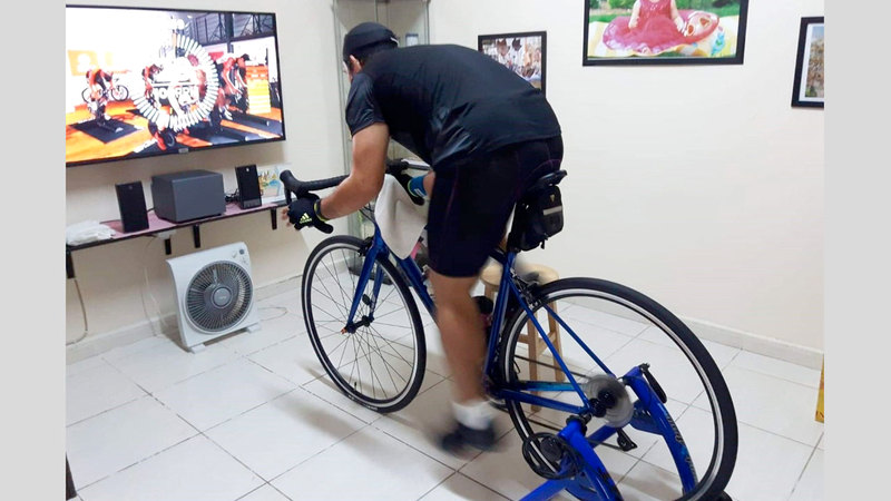 البطولة تشجّع على ممارسة النشاط الرياضي في المنزل.   من المصدر