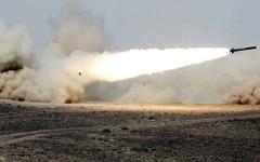 الصورة: التحالف يعترض «باليستياً» حوثياً في سماء مأرب