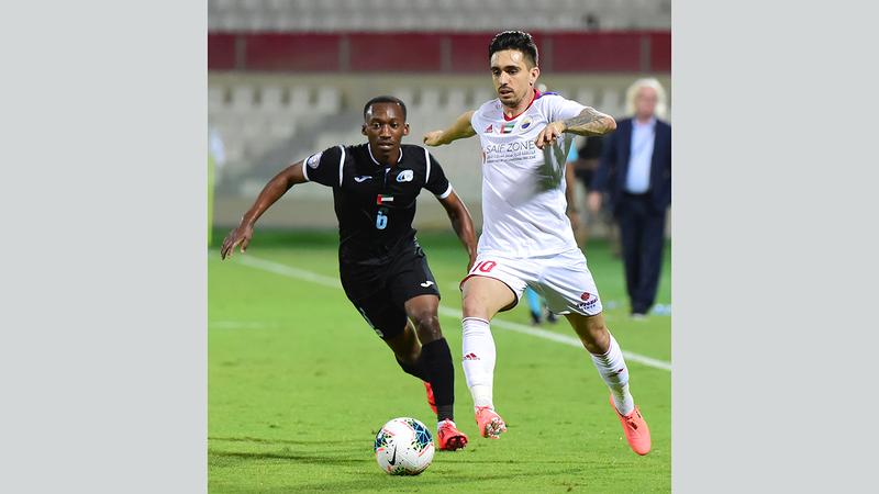 إيغور كورنادو مستمر في فريق الشارقة حتى 2023. تصوير: أسامة أبوغانم