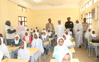 """الصورة: """"أبوظبي للتنمية"""" يستكمل توريد الشحنة الثالثة من المستلزمات التعليمية لـ 400 ألف طالب في السودان"""