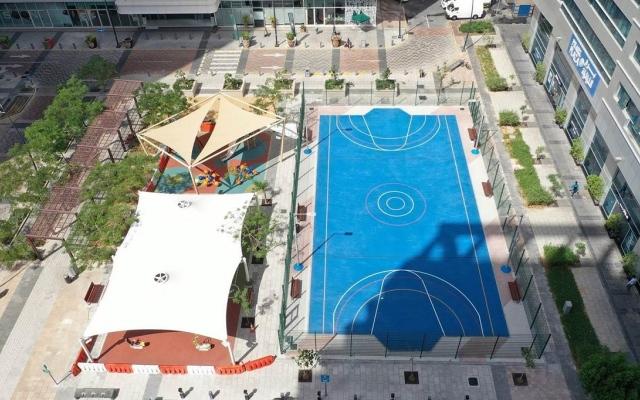 الصورة: إنشاء منطقة «ألعاب وتمارين» جديدة على كورنيش أبوظبي