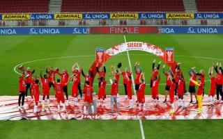 """الصورة: """"التباعد الاجتماعي"""" يطغى على احتفالات """"سالزبورغ"""" بكأس النمسا"""