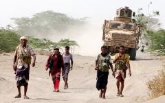 الصورة: إسقاط طائرتين مسيّرتين بالجوف ومأرب.. وتدمير تعزيزات حوثية في الحديدة
