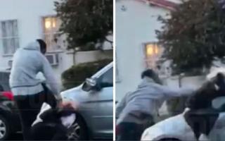 الصورة: بالصور.. نجم سلة أميركي يعتدي بالضرب على رجل قام بتخريب سيارته