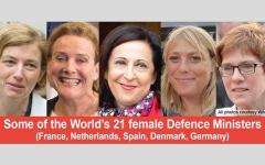 الصورة: تولين «وزارات دفاع».. نساء يقتحمن المجال الأصعب للرجال
