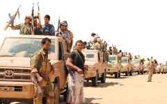 الصورة: القوات اليمنية تسقط مسيرة حوثية في الجوف وتدمر تعزيزات في حجة