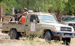 الصورة: التحالف يدمّر صاروخاً باليستياً أطلقه الحوثيون باتجاه نجران