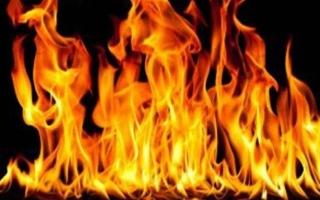 الصورة: حارس معرض يخمد حريقاً بالشارقة
