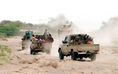 الصورة: تدمير تعزيزات عسكرية ومخازن أسلحة «حوثية» في 7 محافظات يمنية