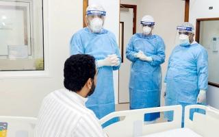 الصورة: محمد العلماء: نجاحات مشهودة للمنظومة الصحية في مواجهة الجائحة