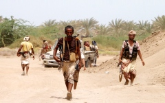 الصورة: الجيش اليمني يقترب من الدخول إلى مركز مدينة الحزم في الجوف