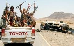 الصورة: الجيش اليمني يتقدم بالجوف والقبائل  تستعيد مواقع في البيضاء