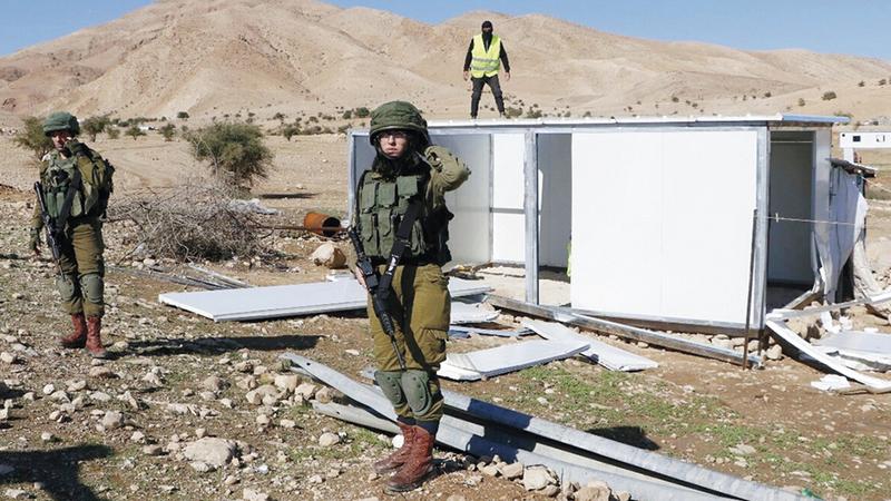 الاحتلال يمنع أهالي العوجا من البناء فوق أراضيهم. من المصدر