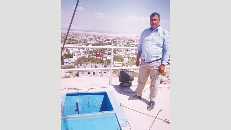 صلاح فريحات رئيس بلدية بلدة العوجا. من المصدر