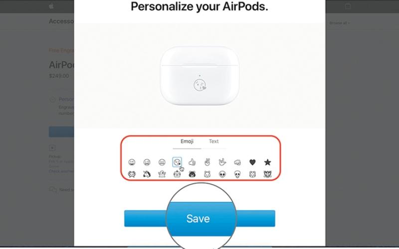 الصورة: إضافة النقوش إلى سماعات AirPods