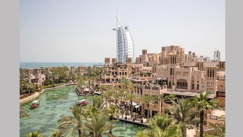 دبي تمتلك العديد من المقومات وهي إحدى أبرز الوجهات المفضلة على خارطة السياحة الدولية. أرشيفية