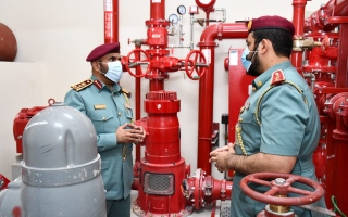 الصورة: دفاع مدني أبوظبي يحث على صيانة أنظمة الوقاية