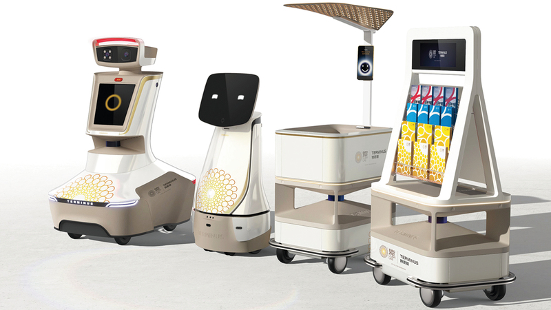 الروبوتات مزودة بشاشات لمس وستؤدي مهام متنوعة منها توصيل الأطعمة والمشروبات وخدمات الضيافة. ■ من المصدر