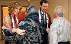 الصورة: أسماء الأسد تدعم زوجها  بكل السبل