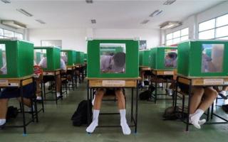 الصورة: بالصور.. إجراءات الحماية في مدارس تايلاند