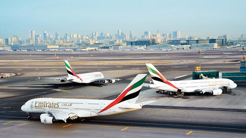 «طيران الإمارات» ستسير رحلات إلى أكثر من 50 وجهة يوليو الجاري.  أرشيفية