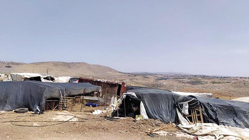 خيام جبعيت تؤرق الاحتلال وتدفعه لمصادرتها.   الإمارات اليوم
