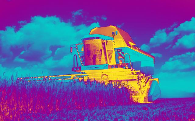 الصورة: بالفيديو..  حصادات ذاتية التحكم تسجل رقما قياسيا في حقول القمح بروسيا