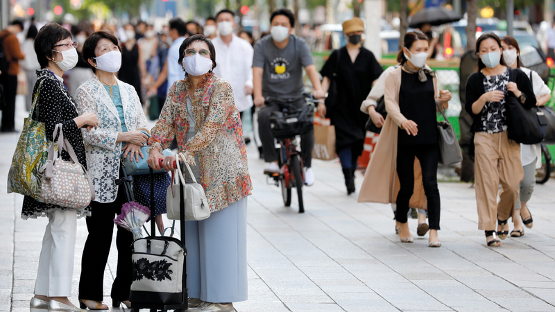 طوكيو من أكثر المدن ازدحاماً في العالم.  رويترز