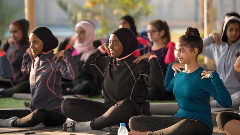 «الحملة» تركز على أهمية المحافظة على الصحة البدنية والذهنية. ■ من المصدر