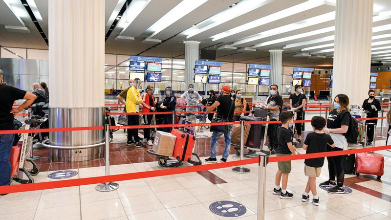 «دبي الدولي» يلعب دوراً أساسياً في ربط حركة السفر العالمية.  تصوير: أشوك فيرما