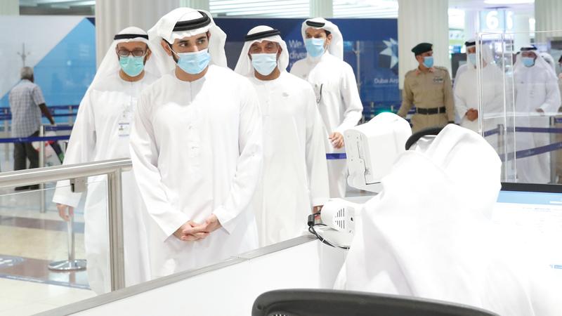 حمدان بن محمد اطلع على استعدادات مطار دبي لعودة حركة السياحة وفق أفضل معايير السلامة الدولية. وام