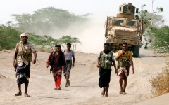 الصورة: التحالف يدمر صاروخاً باليستياً وتعزيزات عسكرية للحوثيين في جبهات عدة