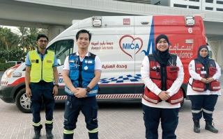 الصورة: «إسعاف دبي» تنقذ سبعينية توقف قلبها