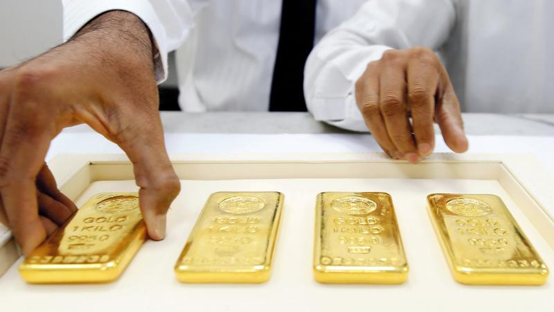 التوقعات العالمية الجديدة لأسعار الذهب أصبحت تراوح بين 1700 و1900 دولار للأونصة.  تصوير: باتريك كاستيلو