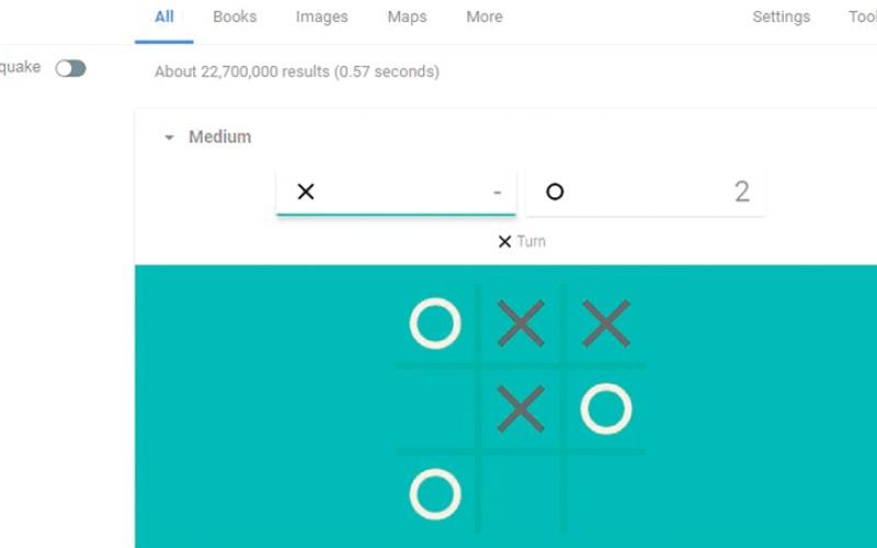 الصورة: ممارسة لعبة «Tic-Tac-Toe» مع «غوغل»