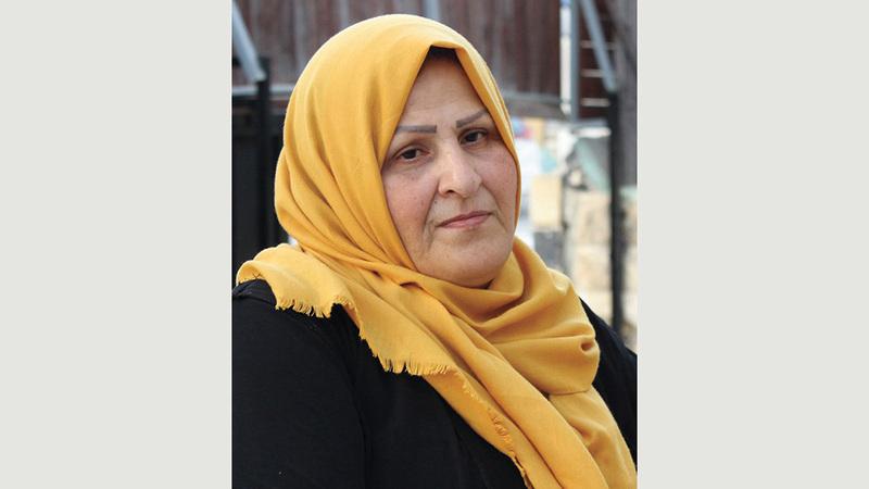 أمل سمرين زوجة صاحب المنزل المقدسي المهدد بالمصادرة.  الإمارات اليوم