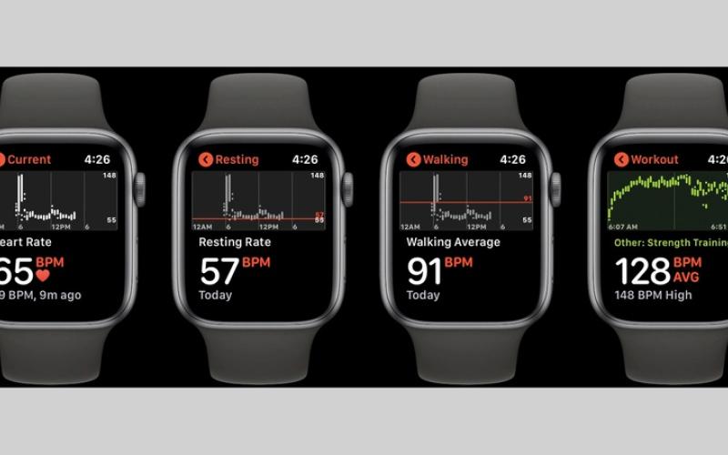الصورة: الاطلاع على سجل ضربات القلب عبر «ساعة أبل»