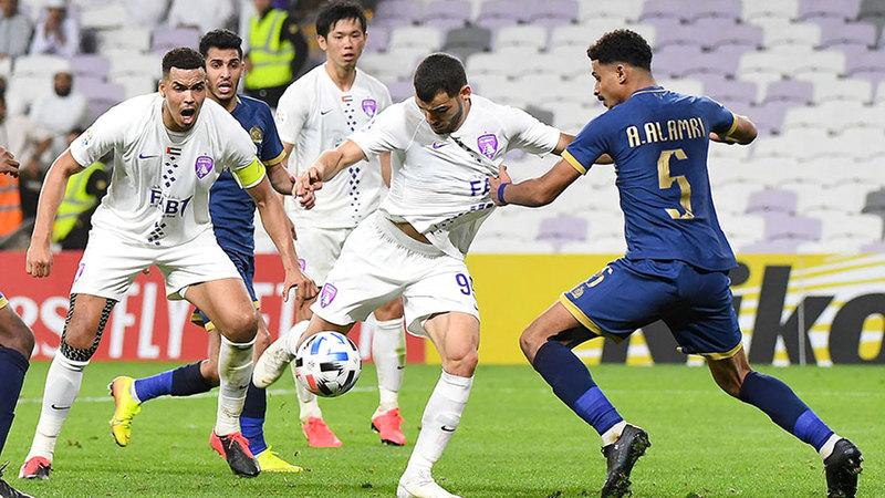 العين خسر أمام ضيفه النصر السعودي في دوري أبطال آسيا. تصوير: إريك أرازاس