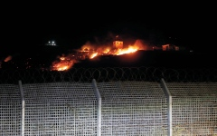 الصورة: إسرائيل تقصف أهدافاً عسكرية في جنوب سورية