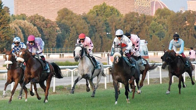 جانب من السباق.   من المصدر